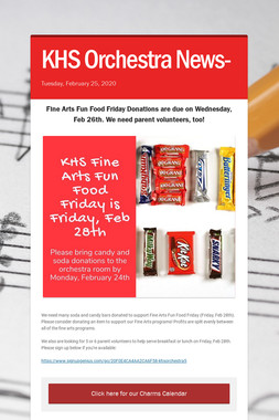 KHS Orchestra News-