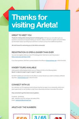 Thanks for visiting Arleta!