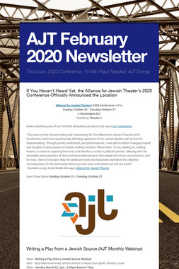 AJT  February 2020 Newsletter
