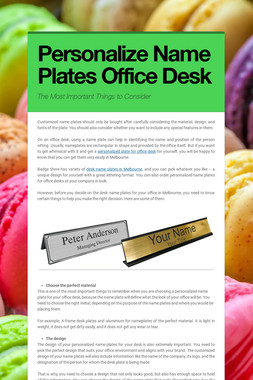 Personalize Name Plates Office Desk