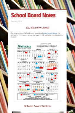 School Board Notes