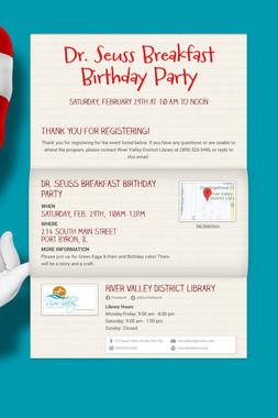 Dr. Seuss Breakfast Birthday Party