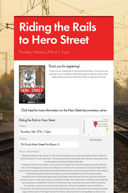 Riding the Rails to Hero Street