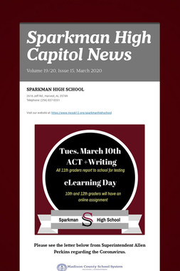 Sparkman High Capitol News