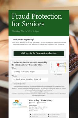 Fraud Protection for Seniors
