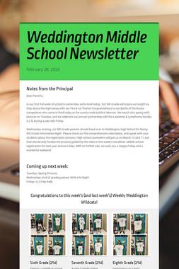Weddington Middle School Newsletter