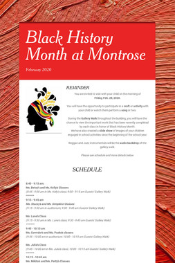 Black History Month at Montrose