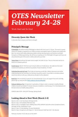 OTES Newsletter February 24-28