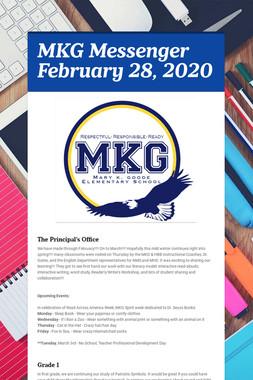 MKG Messenger February 28, 2020