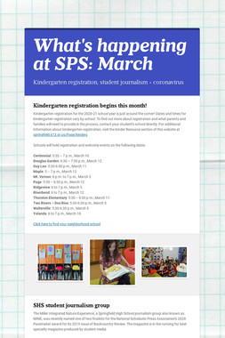 What's happening at SPS: March