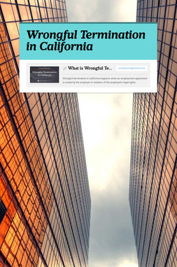 Wrongful Termination in California