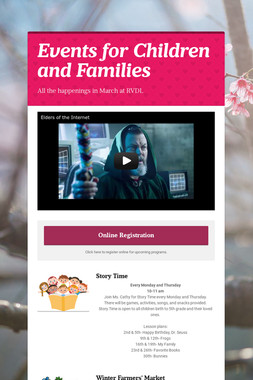 Events for Children and Families