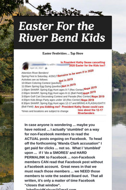 Easter For the River Bend Kids