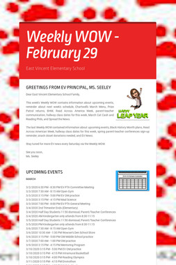 Weekly WOW - February 29