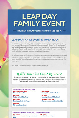 Leap Day Family Event
