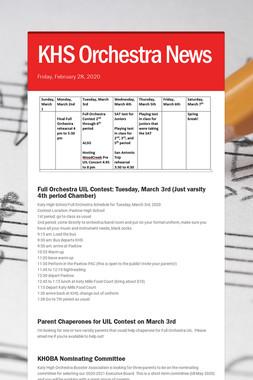 KHS Orchestra News