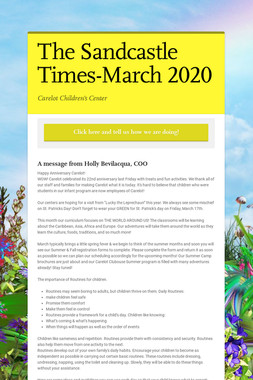 The Sandcastle Times-March 2020