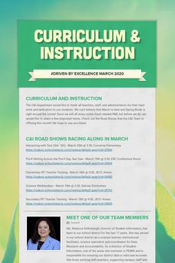Curriculum & Instruction