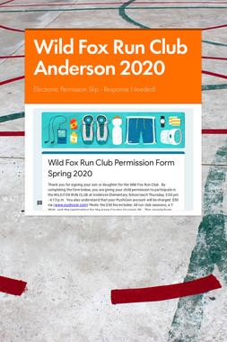 Wild Fox Run Club Anderson 2020