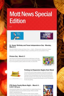 Mott News Special Edition