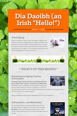 """Dia Daoibh (an Irish """"Hello!"""")"""