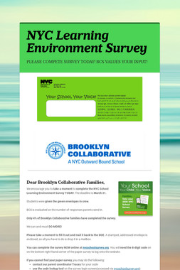 NYC Learning Environment Survey