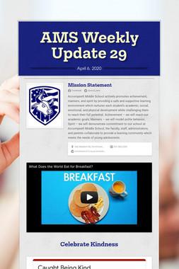 AMS Weekly Update 29