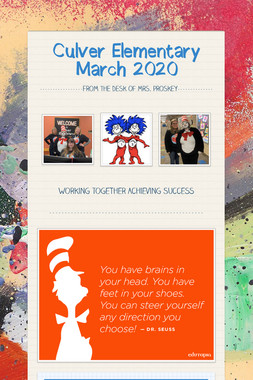 Culver Elementary     March 2020