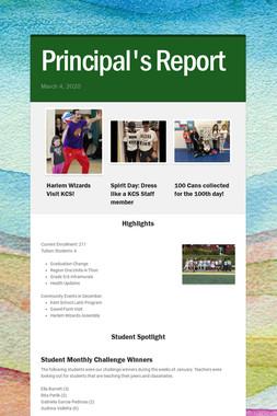 Principal's Report