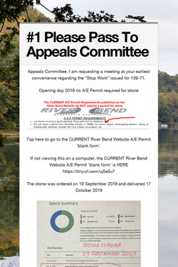 #1 Please Pass To Appeals Committee