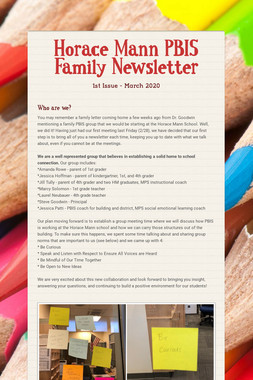 Horace Mann PBIS Family Newsletter