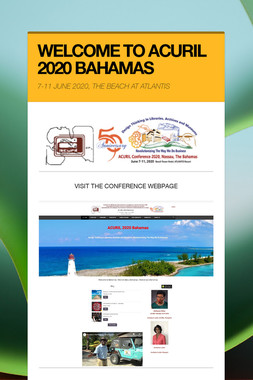 WELCOME TO ACURIL 2020 BAHAMAS