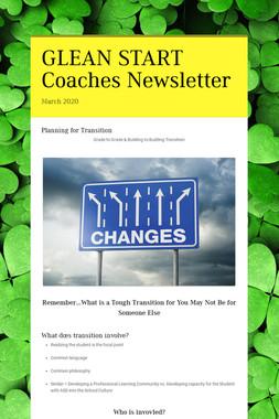 GLEAN START Coaches Newsletter