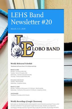 LEHS Band Newsletter #20