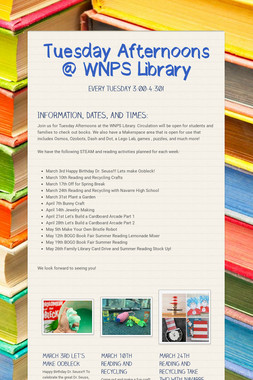 Tuesday Afternoons @ WNPS Library