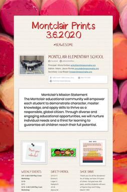 Montclair Prints 3.6.2020