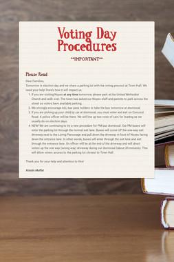 Voting Day Procedures