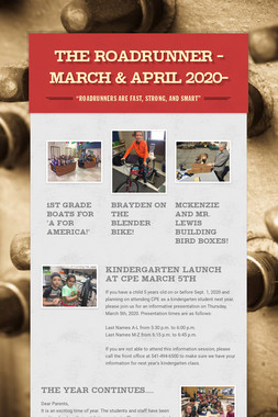 The Roadrunner -March & April 2020-