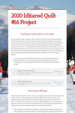2020 Iditarod Quilt #16 Project