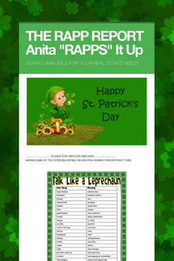 "THE RAPP REPORT Anita ""RAPPS"" It Up"
