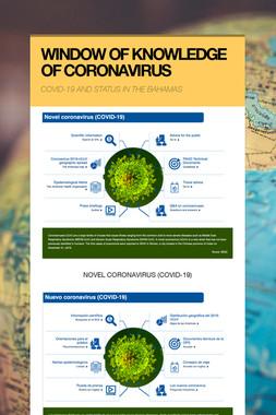 WINDOW OF KNOWLEDGE OF CORONAVIRUS