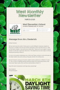 West Monthly Newsletter