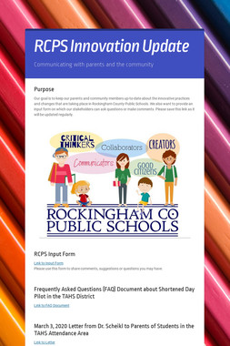 RCPS Innovation Update