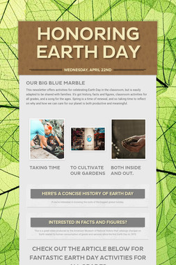 Honoring Earth Day