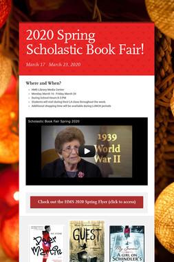 2020 Spring Scholastic Book Fair!