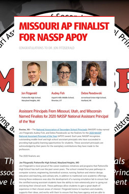 MISSOURI AP FINALIST FOR NASSP APOY