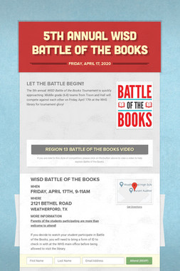 5th Annual WISD Battle of the Books