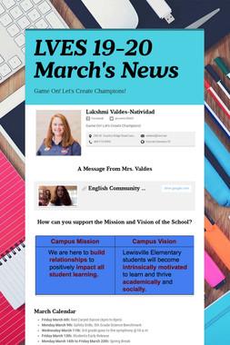 LVES 19-20 March's News
