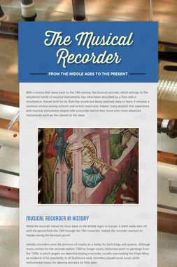 The Musical Recorder