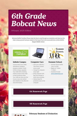 6th Grade Bobcat News